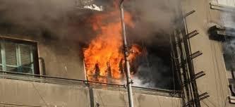 صورة تفاصيل ..  أم تحرق منزلها لاتهام آخرين ..فماتت واطفالها به حرقا