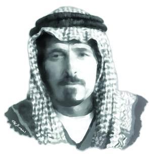 صورة الشيخ مثقال الفايز – عقيد الصخور