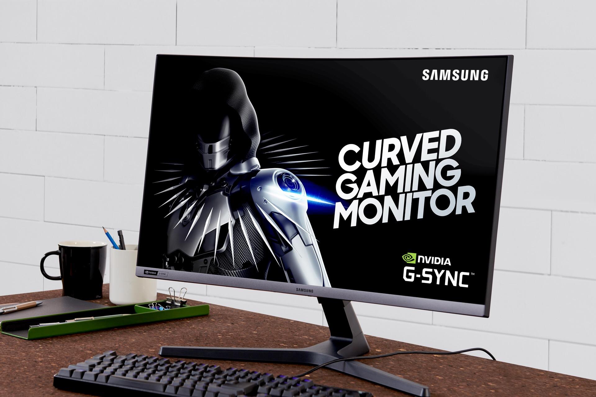 """صورة """"سامسونج إلكترونيكس"""" تطلق شاشة الألعاب المنحنية CRG5 بتقنية G-Syncوبمعدل تحديث فائق يبلغ 240 هيرتز"""