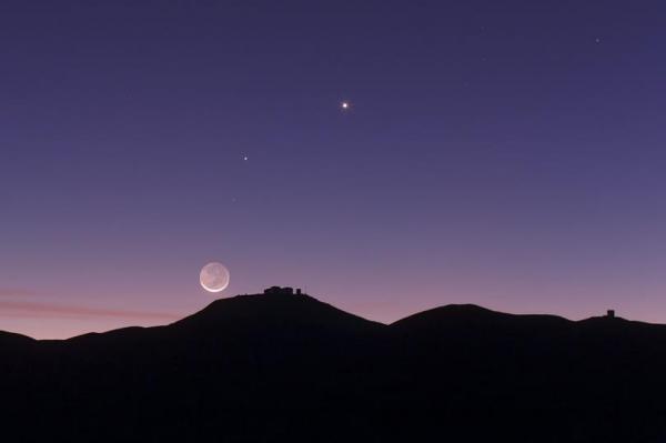 صورة الفلك الدولي : رؤية الهلال يوم الاثنين غير ممكنة