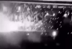 صورة بالفيديو .. لحظة استهداف المكان الذي تواجد فيه سليماني ببغداد